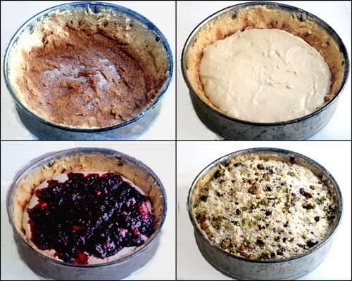Raspberry Pistachio Cream Cheese Coffee Cake