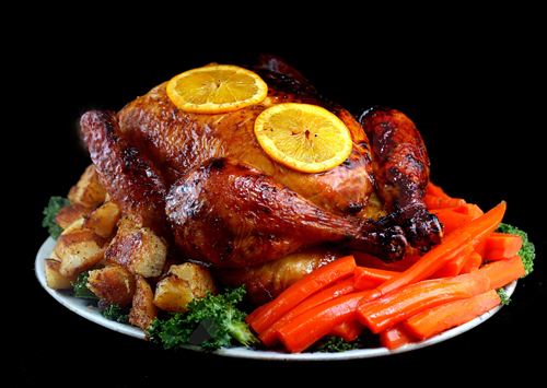 Orange Lacquered Roast Chicken