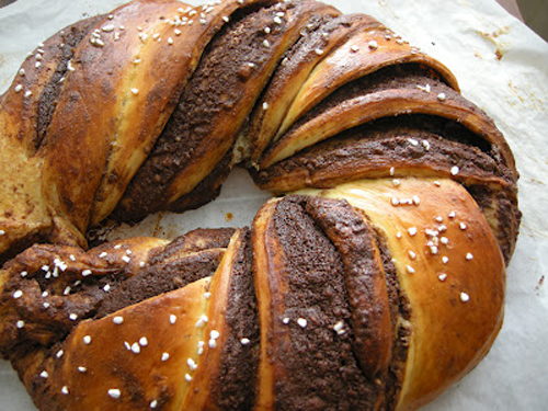 Chocolate Marble Finnish Pulla Twist for Bread Baking Day #47 Bread with Chocolate!