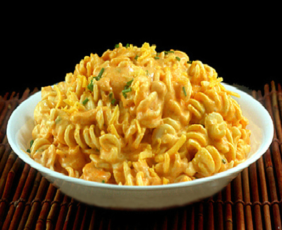 Extremely Creamy Sriracha (Rotini) Macaroni and Cheese with a SECRET INGREDIENT that really makes it pop!