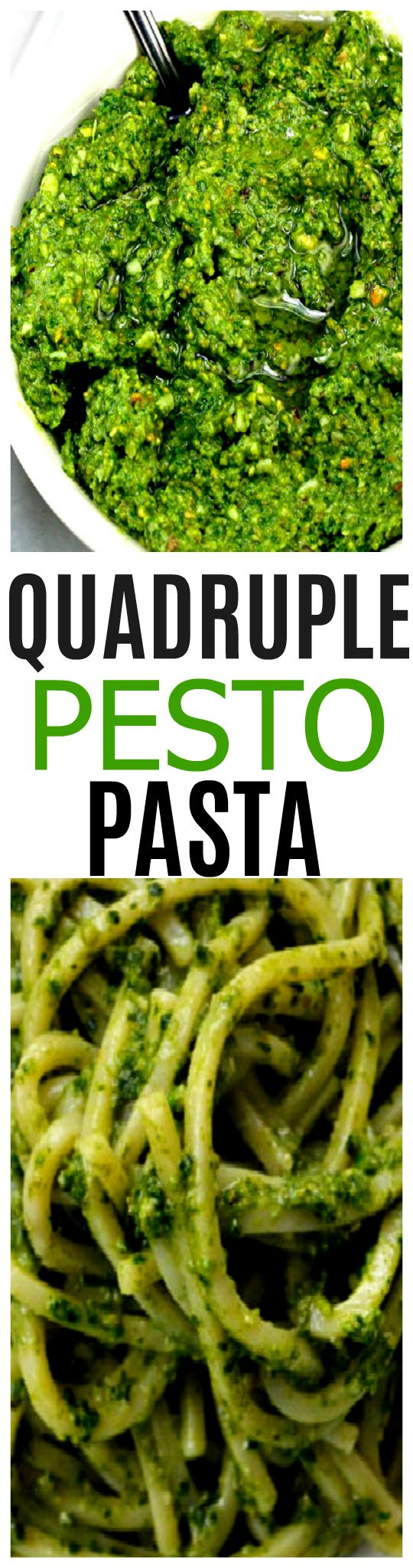 Quadruple Pesto with Extra Garlic and Cheese. This is the most flavorful pesto you will ever have! Even pesto haters love this pesto!