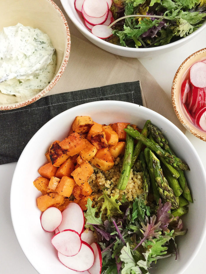roasted sweet potato bowls