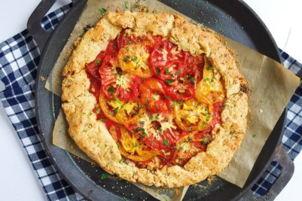 Rustic Manchego + Heirloom Tomato Crostata