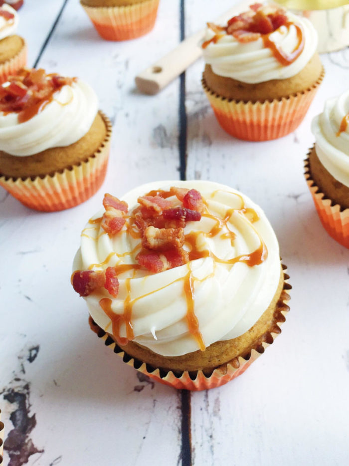 maple bacon pumpkin cupcakes