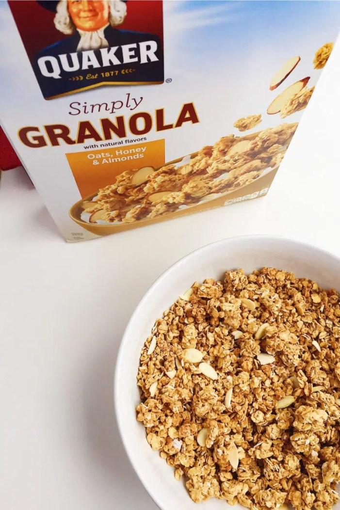 apple cranberry granola crisp