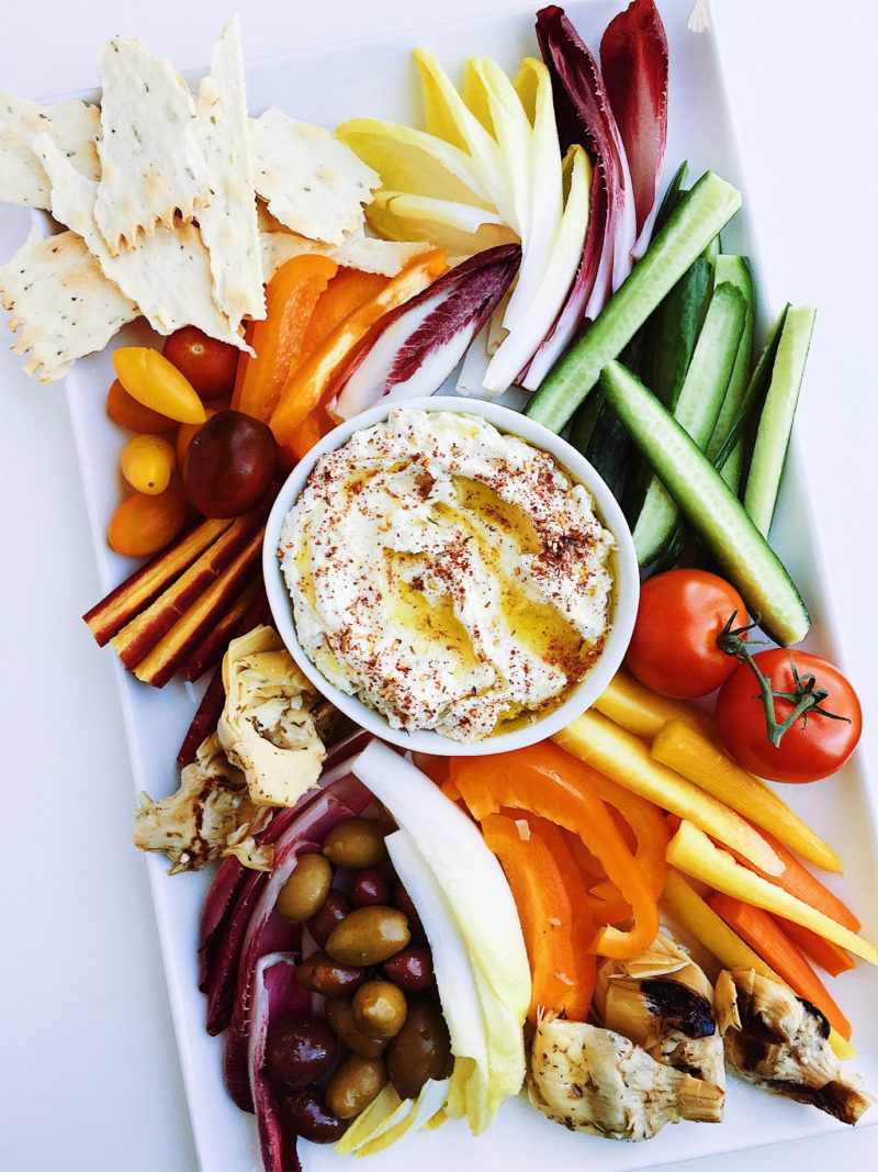 za'atar roasted garlic feta dip
