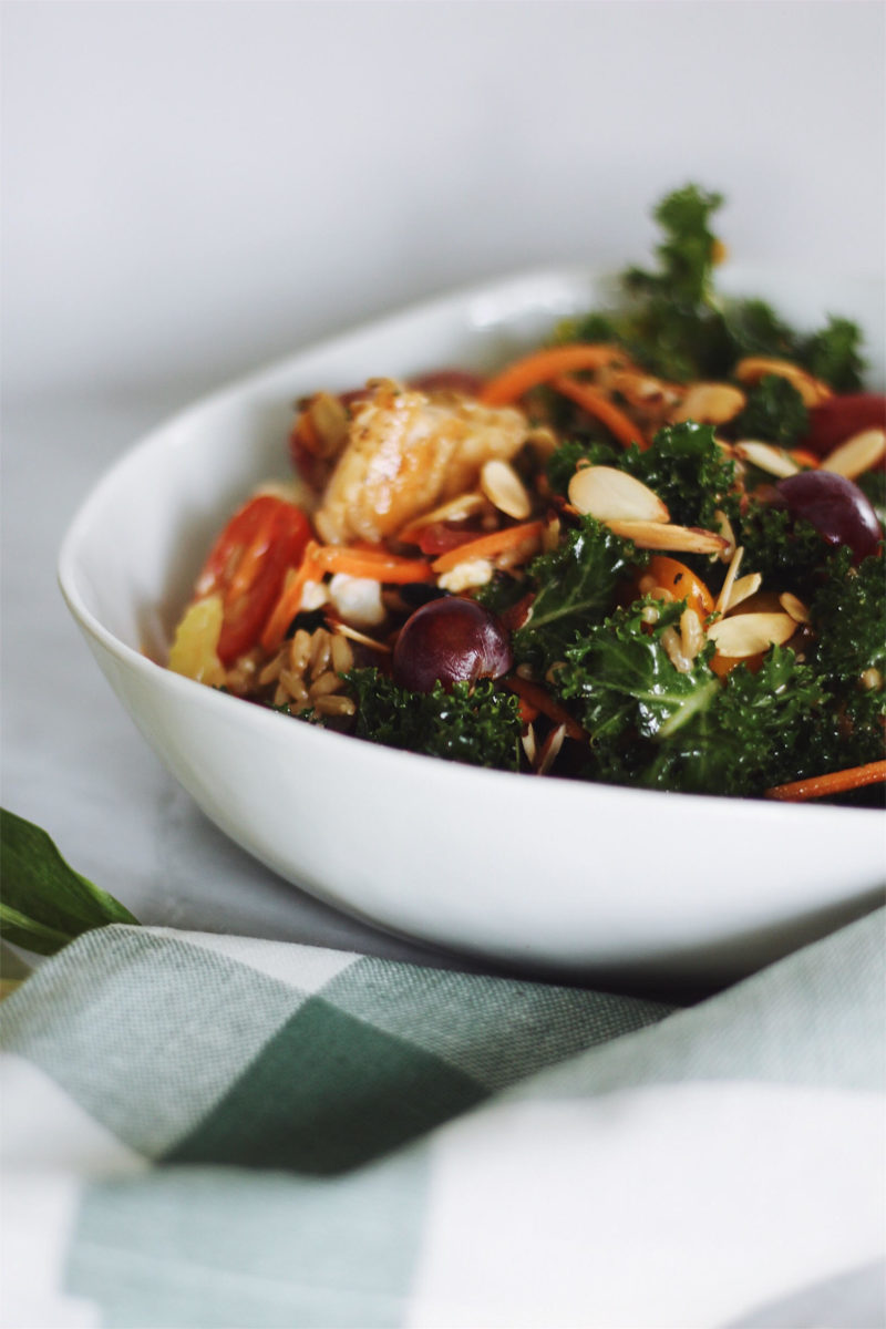 Kale and Chicken Wild Rice Salad
