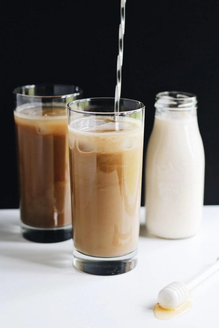 Caramelized Honey Almond Cold Brew Latte