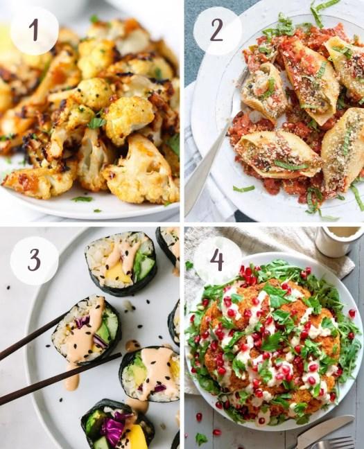 Vegan recipes where cauliflower is the main star