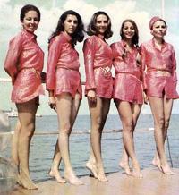 Farah Pahlavi & friends at Capian Sea