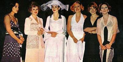 TV Hosts - from left: Pari Hashemi, Goli Yahyavi, Azadeh Vaziri, Delaram Keshmiri, Maryam Khamoosh