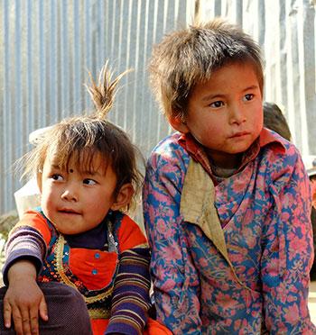 Enfants Népalais