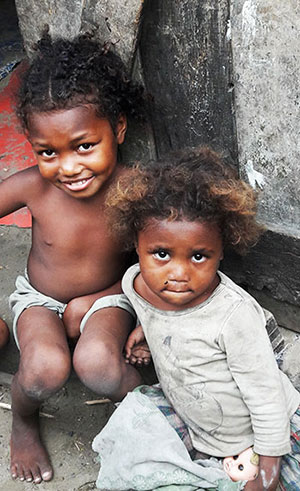 Petites filles malgache