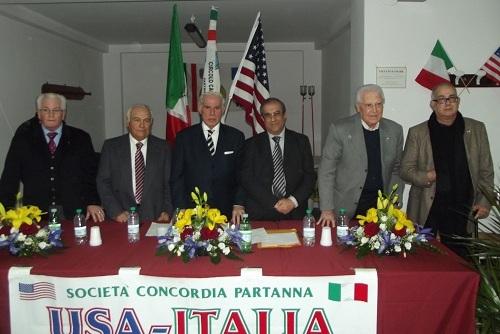 Da sinistra: Giuseppe Cesare, Guglielmo Benfante, Tony Mulè, Giovanni Cuttone, Vincenzino Culicchia,John Forte Jr.