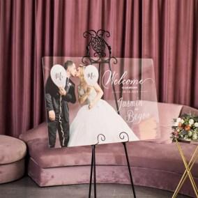 Cartelli Plexiglass tableau de mariage YK031_2