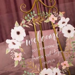 Cartelli Plexiglass tableau de mariage YK001_2
