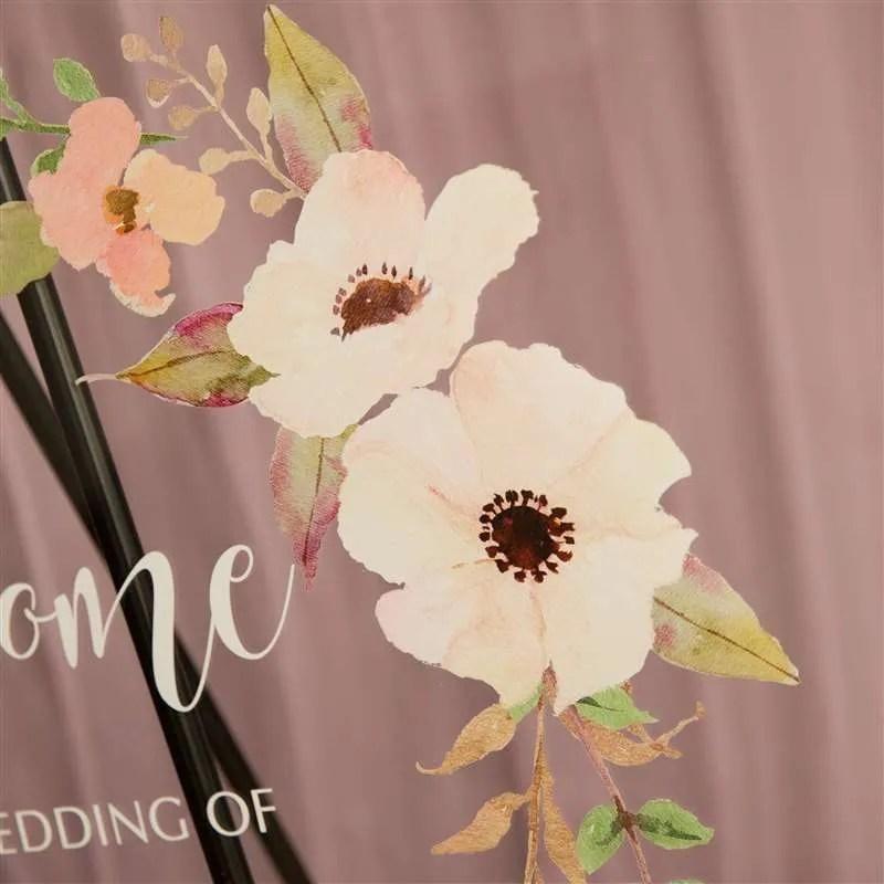 Cartelli Plexiglass tableau de mariage YK001_6
