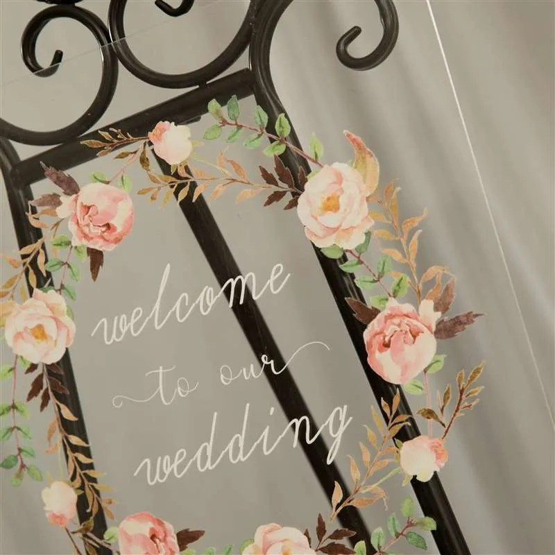 Cartelli Plexiglass tableau de mariage YK002_7