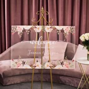 Cartelli Plexiglass tableau de mariage YK004