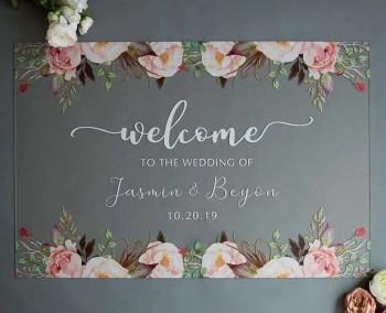 Cartelli Plexiglass tableau de mariage YK004_5
