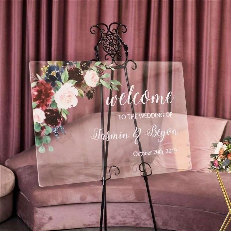 Cartelli Plexiglass tableau de mariage YK005_2