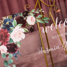 Cartelli Plexiglass tableau de mariage YK005_3
