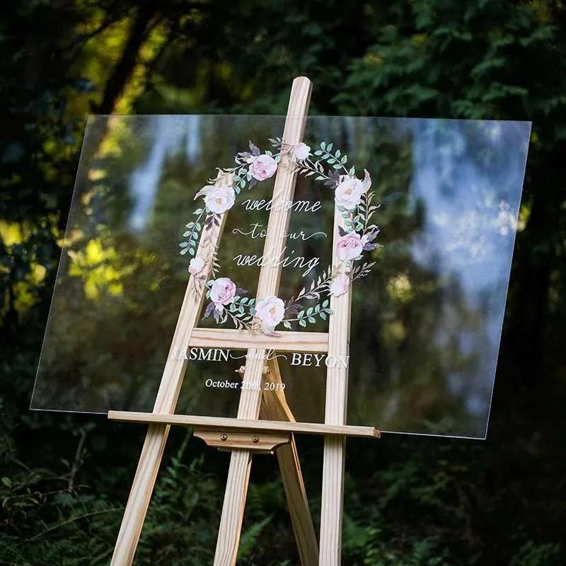Cartelli Plexiglass tableau de mariage YK007
