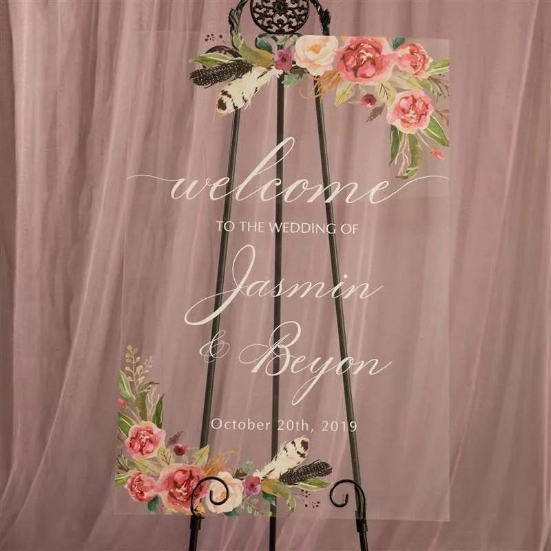 Cartelli Plexiglass tableau de mariage YK008_7