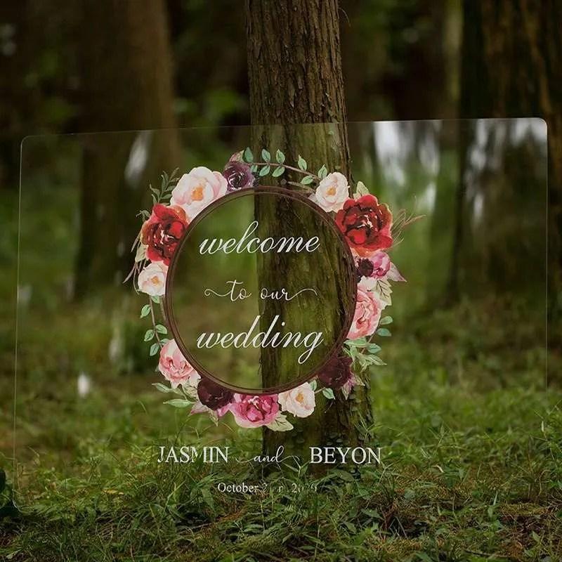 Cartelli Plexiglass tableau de mariage YK011_1