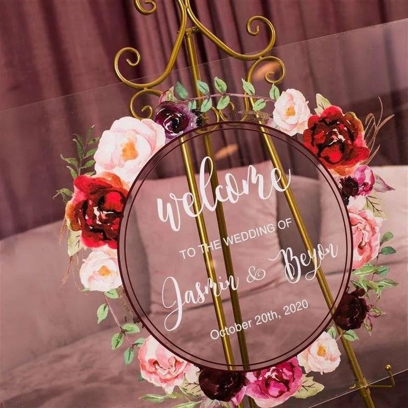 Cartelli Plexiglass tableau de mariage YK012_3