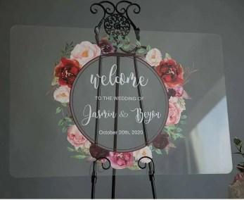 Cartelli Plexiglass tableau de mariage YK012_4