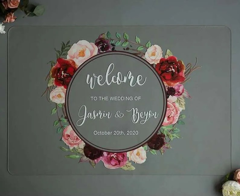Cartelli Plexiglass tableau de mariage YK012_5