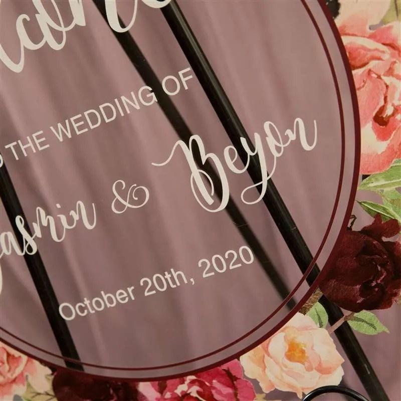 Cartelli Plexiglass tableau de mariage YK012_6