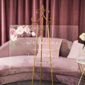 Cartelli Plexiglass tableau de mariage YK014