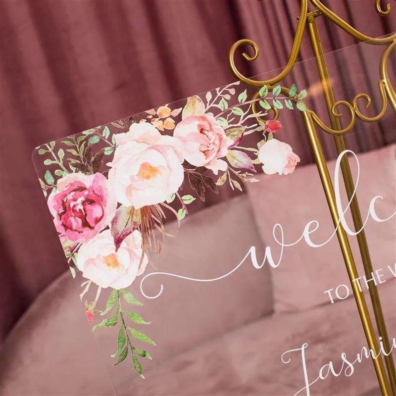 Cartelli Plexiglass tableau de mariage YK014_3