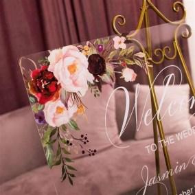 Cartelli Plexiglass tableau de mariage YK015_2