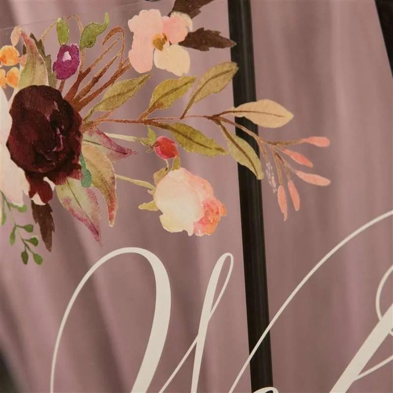 Cartelli Plexiglass tableau de mariage YK015_6
