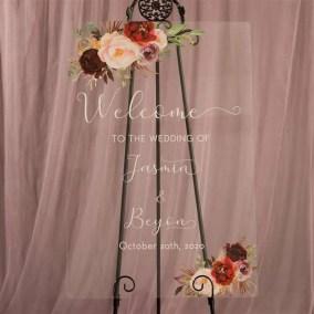 Cartelli Plexiglass tableau de mariage YK016_7