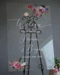 Cartelli Plexiglass tableau de mariage YK017_4