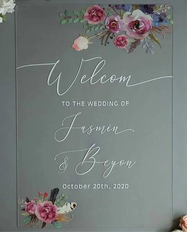 Cartelli Plexiglass tableau de mariage YK017_5