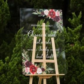 Cartelli Plexiglass tableau de mariage YK018