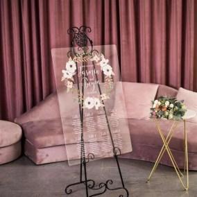 Cartelli Plexiglass tableau de mariage YK019_2