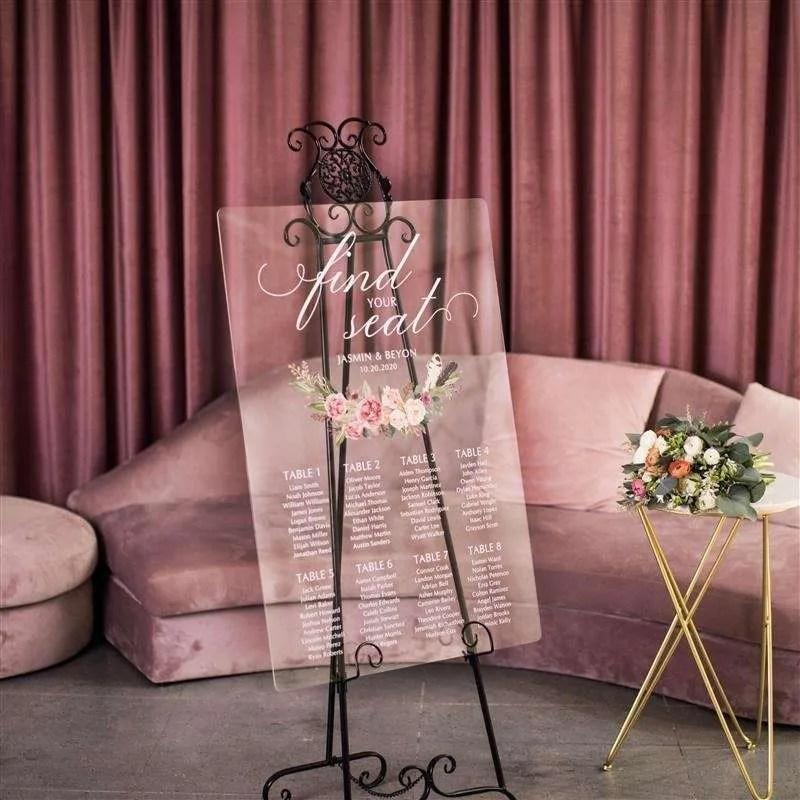 Cartelli Plexiglass tableau de mariage YK024_3
