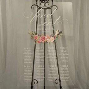 Cartelli Plexiglass tableau de mariage YK024_5