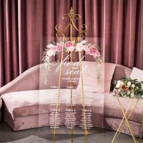 Cartelli Plexiglass tableau de mariage YK025