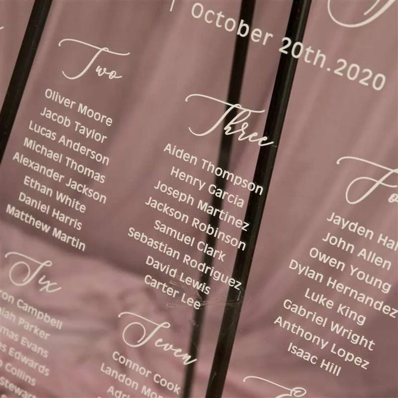 Cartelli Plexiglass tableau de mariage YK030_4