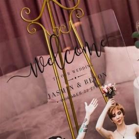 Cartelli Plexiglass tableau de mariage YK032_3