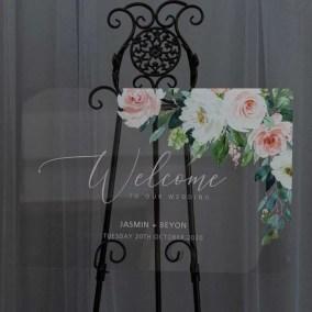 Cartelli Plexiglass tableau de mariage YK033