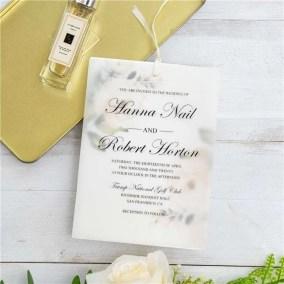 Invito di nozze elegante floreale a doppio strato in carta trasparente WDV0004_4
