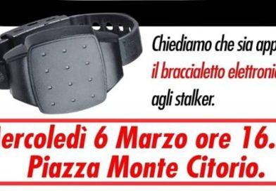braccialetto elettronico agli stalker, SUBITO!